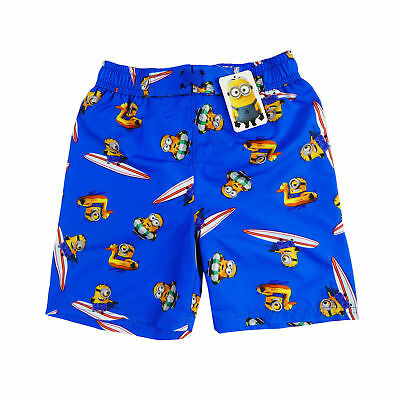 New Despicable Me Minions Boys Boardie Shorts Boardshorts Size 3,4,5,6,7,8