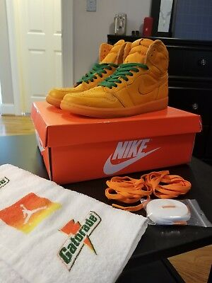 Nike Air Jordan 1 Retro Hi OG G8RD Gatorade Orange Peel AJ5997 880 D EX