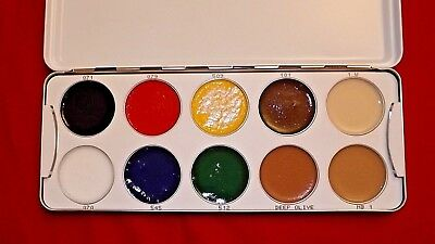 Kryolan Body Illustration Body Paint Special Effects Sfx Palette - New - Rrp £77