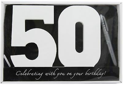 Wooden Birthday Signature Plaque ~ Happy 50Th Birthday Gift