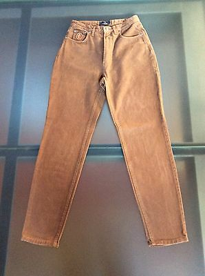 Trussardi Jeans Classico Vintage Donna/woman,tg 32-46, Marrone, Made In  Italy