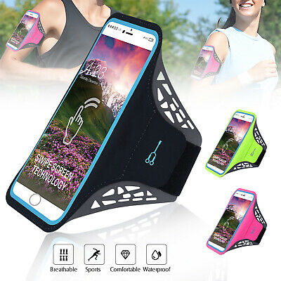 Screen Touch Armband Case Sports Gym Running Jog Exercise Phone Holder Key Bag