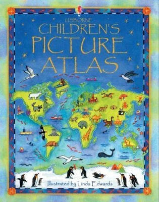 (Good)-The Usborne Children's Picture Atlas: Miniature Edition (Hardcover)-Ruth