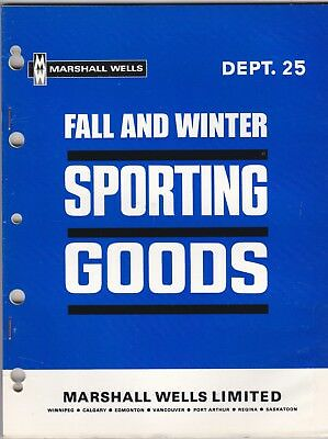 Marshall Wells Catalog 1969 Fall & Winter Sporting Goods wolc6