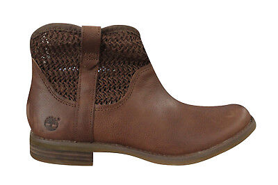 b9baf445aa7 TIMBERLAND WOMENS SAVIN Hill Open Weave Ankle Boots Brown A14SC D22