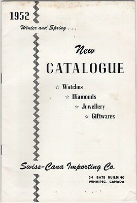 Swiss Canada 1952 Jewelry Catalog grc1