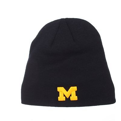 0d4365bc3c6 Michigan Wolverines Official NCAA Edge Adjustable Beanie Knit Sock Hat by  Zephyr