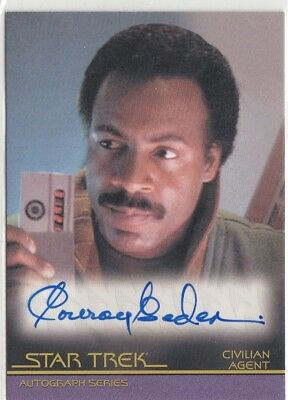 Star Trek Classic Movies Heroes & Villians - A129 Conroy Gedeon Autograph Card