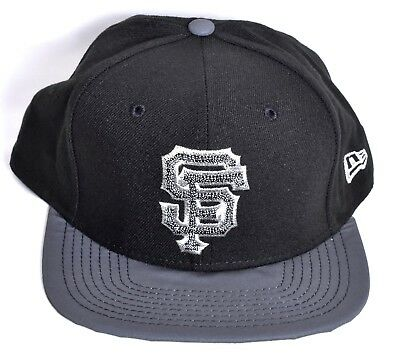 8bdb6257ba9 SAN FRANCISCO GIANTS New Era Champs Snapback Hat Cap Black 9Fifty MLB  NEW
