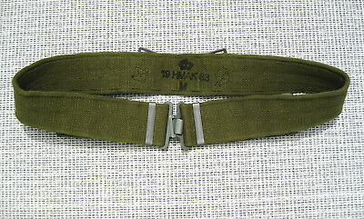 DANISH ARMY p37 PISTOL BELT WEB OD HMAK 1983