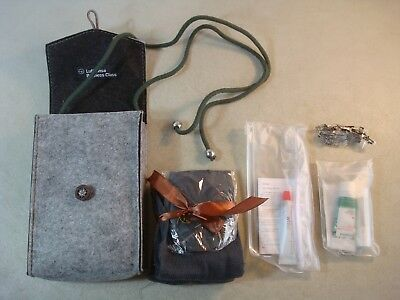 Lufthansa Business Class AMENITY KIT in Gray Belted Bavarian Style Bag UNUSED* A