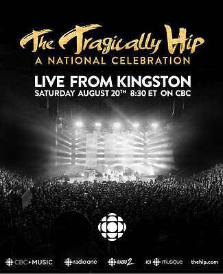 """Tragically Hip """"Live From Kingston-A National Celebration"""" Canada Concert Poster"""