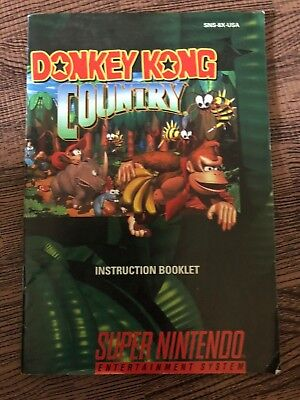 Donkey Kong Country 2 SNES Super Nintendo MANUAL ONLY! Instruction Booklet!