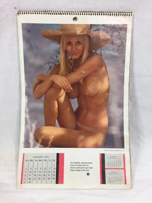 1972 Playboy Wall Calendar - Complete - and a Joy to Behold!