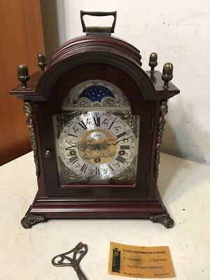 Vintage Lauris Westminster Chime Bracket Clock Franz Hermle Movement