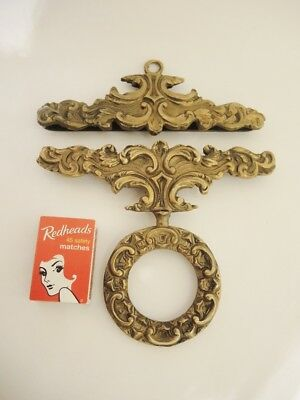 Vintage Solid Heavy & Ornate Brass Bell Pull Tapestry Cross Stitch Hanger
