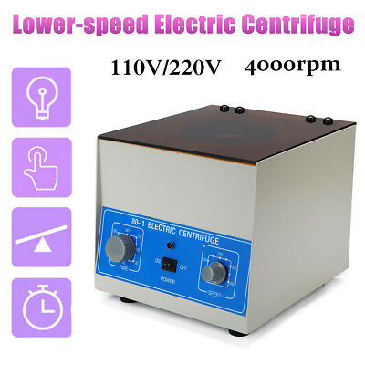 80-1 Electric Lab Centrifuge Laboratory Medical Practice Timer 4000rpm 20 x 6ml
