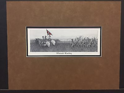 Civil War Art By John Warr Whitetails Watching Ready To Frame 11x14