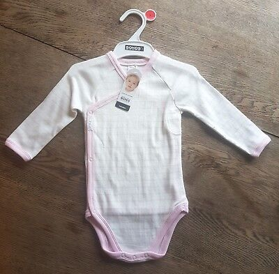 BONDS Newbies Long-Sleeve Suit - Size 1 - Pink & White Stripe (Legless) BNWT