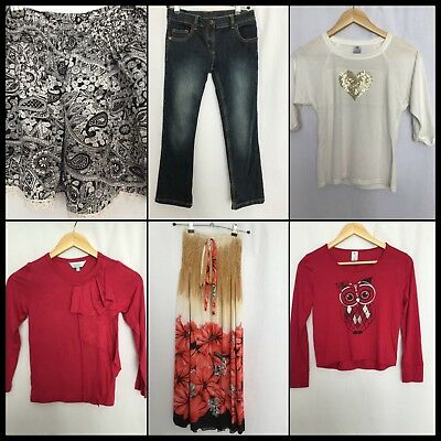 Girl's Size 8 Bulk Lot Tops Jeans Non-Itch All Seasons Target #G115