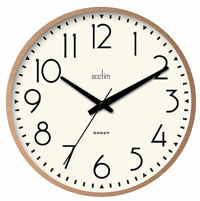 'Earl' Sweep Action Wall Clock In Copper Effect Case by Acctim