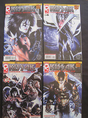 KISS 4K : complete run of issues 1,2,3,4. GENE SIMMONS. KISS COMICS GROUP. 2007