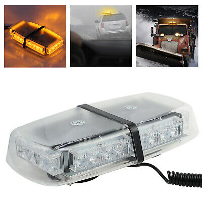 24 LEDs Vehicle Roof Light Flashing Recovery Strobe Beacon Light Magnetic Amber