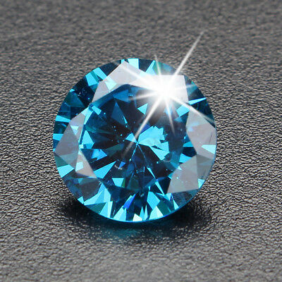 Unheated 6.22CT 10mm Sea Blue Sapphire Round Loose Gemstone Ring Earring Jewelry