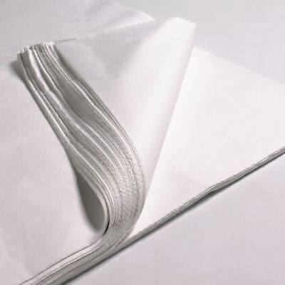 200 x SHEETS OF WHITE ACID FREE TISSUE WRAPPING PAPER SIZE 450 X 700MM 18 X 28