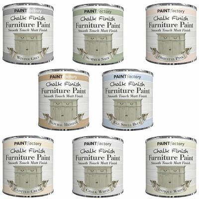 250ml Chalk Finish Paint Tin Tub Smooth Touch Matte Furniture Vintage House Home