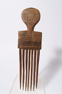Alter Kamm Agni 21cm B Used old comb Baoule peigne Afrozip