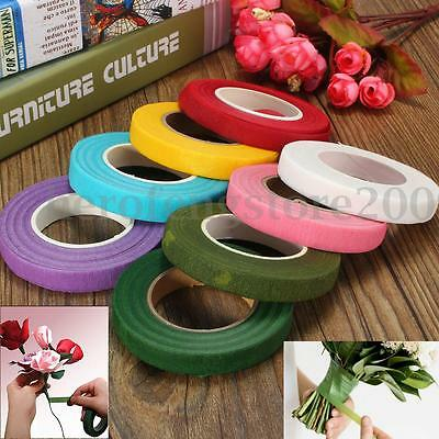 Floristry Floral Stem Wrap Tape Artificial Flower Corsages Craft 12mm 30 yards