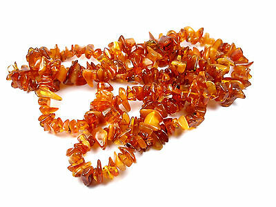 VTG Lovely Natural Genuine Baltic Amber BUTTERSCOTCH Extra Long Necklace 117 g