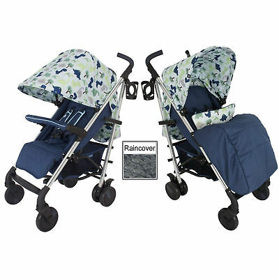 New My Babiie Dinosaurs Mb51 Pushchair Compact Stroller With Raincover