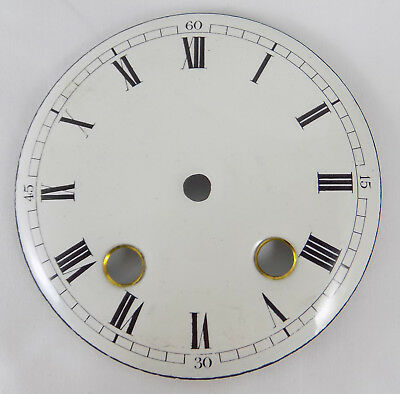 Excellent Antique Enamel Domed Or Convex Striking Clock Dial - Roman Numerals