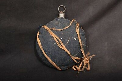 Original US M1858 Civil War / Pre-War Canteen & Cork, Blue Wool Felt Covered
