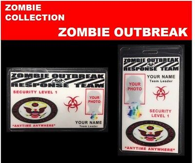 zombie ID collection..ZOMBIE OUTBREAK.. 2 Card Set << RESPONSE TEAM>>