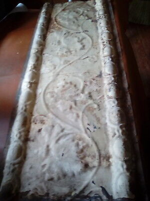 "Antique Tin Ceiling Panel 42 "" X 16"" Architectural Salvage/gc/1890-1900's( #129)"