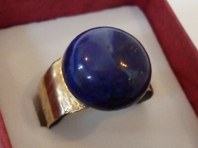 Detector Find,post Medieval Bronze Ring With Real Gem Stone.