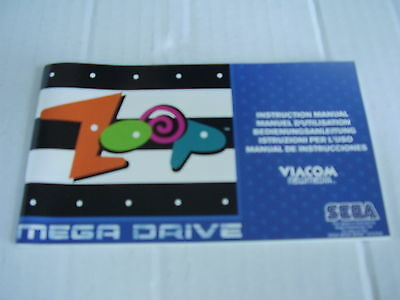 Sega Mega Drive Replacement Instruction Manual Zoop