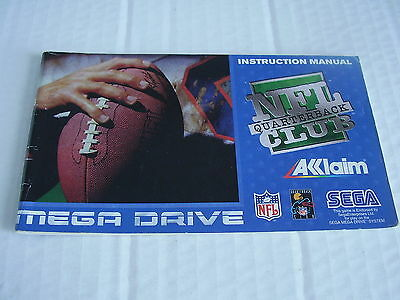 Sega Mega Drive Replacement Instruction Manual Nfl Club Quarterback
