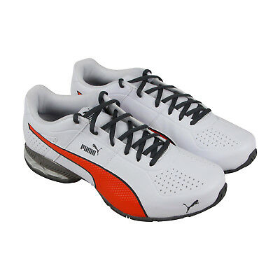 Puma Cell Surin2 Fm Mens White Leather Athletic Lace Up Running Shoes