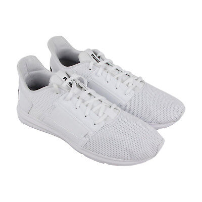 54e63666f95f PUMA ENZO STREET Mens White Textile Athletic Lace Up Running Shoes ...