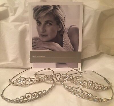 5 Sparkling Tiaras with Princess Diana exhibition book - NEW