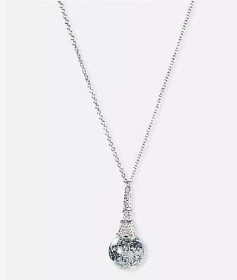 Justice Girl's PARIS Globe Long Pendant Necklace New with Tags