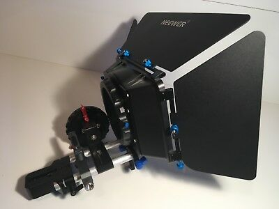 Camera Rig Cage Mattebox Follow Focus Lens Support Camera Plate 15Mm Rods Arri