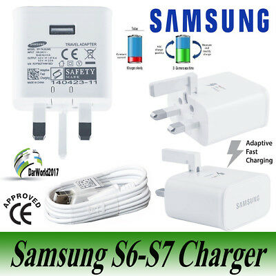SAMSUNG GALAXY S7 EDGE - Wall Adaptive Fast Charger Head Plug and Charging Cable