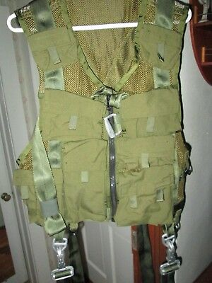 ARMY MILITARY AIRCREW SURVIVAL VEST HARNESS with 10 pouchs size med.