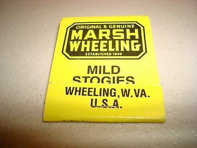 Rare Vintage Matches Marsh Wheeling Established 1840 W. Virginia USA Original!