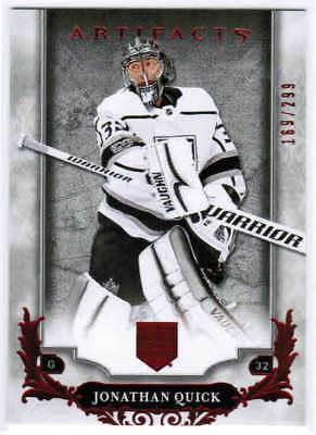 18/19 2018 UD ARTIFACTS HOCKEY BASE RUBY PARALLEL CARDS #1-100 U-Pick From List